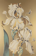 Fine Art - Work on Paper:Print, Lowell Nesbitt (American, 1933-1993). Irises (Three Prints). Offset lithographs in color on paper, each. 60 x 39-3/4 inches... (Total: 3 Items)