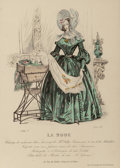 Fine Art - Work on Paper:Print, French School (19th Century). Set of Eight La Mode FashionMagazine Plates, c. 1830's. Etchings in colors on paper. 8 x... (Total: 8 Items)