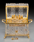 Decorative Arts, French:Other , A Cut-Glass and Gilt Bronze-Mounted Perfume Box Attributed toBaccarat. 7-3/4 inches high x 9-1/4 inches wide x 5-1/2 inches...(Total: 8 Items)