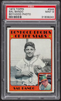 Baseball Cards:Singles (1970-Now), 1972 Topps Sal Bando Boyhood Photo #348 PSA Mint 9 - Only OneHigher. ...