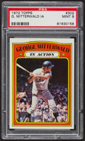 Baseball Cards:Singles (1970-Now), 1972 Topps George Mitterwald In Action #302 PSA Mint 9 - Only TwoHigher. ...