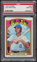 Baseball Cards:Singles (1970-Now), 1972 Topps Joe Pepitone #303 PSA Gem MT 10. ...