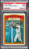 Baseball Cards:Singles (1970-Now), 1972 Topps World Series Game 7 #229 PSA Mint 9....