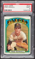 Baseball Cards:Singles (1970-Now), 1972 Topps Fred Kendall #532 PSA Mint 9 - None Higher. ...