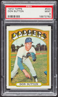 Baseball Cards:Singles (1970-Now), 1972 Topps Don Sutton #530 PSA Mint 9....