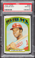 Baseball Cards:Singles (1970-Now), 1972 Topps Carlos May #525 PSA Gem MT 10 - Pop Two. ...