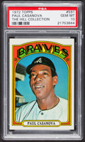 Baseball Cards:Singles (1970-Now), 1972 Topps Paul Casanova #591 PSA Gem MT 10 - Pop Three. ...