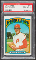 Baseball Cards:Singles (1970-Now), 1972 Topps Billy Wilson #587 PSA Gem MT 10. ...