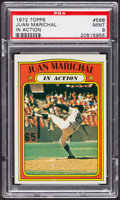 Baseball Cards:Singles (1970-Now), 1972 Topps Juan Marichal In Action #568 PSA Mint 9 - Only TwoHigher. ...
