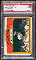 Baseball Cards:Singles (1970-Now), 1972 Topps Reggie Smith In Action #566 PSA Mint 9....