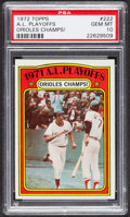 Baseball Cards:Singles (1970-Now), 1972 Topps A. M. Playoffs #222 PSA Gem MT 10 - Pop Two. ...