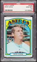 Baseball Cards:Singles (1970-Now), 1972 Topps Ron Cook #339 PSA Gem MT 10. ...