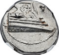 Ancients:Greek, Ancients: LYCIA. Phaselis. Ca. 4th century BC. AR stater (23mm,10.29 gm, 4h). NGC MS 4/5 - 4/5. ...