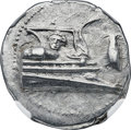 Ancients:Greek, Ancients: LYCIA. Phaselis. Ca. 4th century BC. AR stater (23mm,10.29 gm, 10h). NGC MS 4/5 - 4/5....