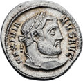 Ancients:Roman Imperial, Ancients: Galerius (AD 305-311). AR argenteus (19mm, 3.30 gm, 12h).Choice MS 5/5 - 5/5....