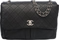 """Luxury Accessories:Bags, Chanel Black Quilted Leather Flap Bag. Condition: 1. 13"""" Width x 9"""" Height x 5"""" Depth. ..."""