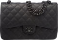 "Luxury Accessories:Bags, Chanel So Black Black Quilted Leather Jumbo Double Flap Bag. Condition: 1. 12"" Width x 8"" Height x 3"" Depth. ..."