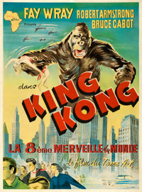 "King Kong (Union Films Afrique, R-1960s). French North African Two Sheet (39"" X 53"") Anel Artwork"