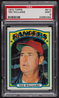 Baseball Cards:Singles (1970-Now), 1972 Topps Ted Williams #510 PSA Mint 9 - Only Three Higher. ...