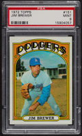 Baseball Cards:Singles (1970-Now), 1972 Topps Jim Brewer #151 PSA Mint 9 - Only Two Higher. ...