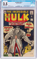 Silver Age (1956-1969):Superhero, The Incredible Hulk #1 (Marvel, 1962) CGC GD+ 2.5 Off-white to white pages....