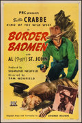 "Movie Posters:Western, Border Badmen & Other Lot (PRC, 1945). One Sheets (2) (27"" X 41""). Western.. ... (Total: 2 Items)"