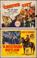 "Movie Posters:Western, A Missouri Outlaw & Other Lot (Republic, 1941). Folded, Fine. Half Sheets (2) (22"" X 28"") Style A. Western.. ... (Total: 2 Items)"
