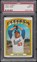 Baseball Cards:Singles (1970-Now), 1972 Topps Jose Pena #322 PSA Mint 9 - Only One Higher. ...