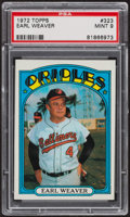 Baseball Cards:Singles (1970-Now), 1972 Topps Earl Weaver #323 PSA Mint 9 - Only Four Higher. ...