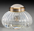 Decorative Arts, French:Other , A Cartier Must de Cartier Glass Encrier Inkwell, circa 1989.Marks: (various). 2-1/4 inches high (5.7 cm). ...