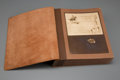 Fine Art - Work on Paper, A Suede-Bound Photo Portfolio of Paintings, Bronzes, and Artwork ofOld Montana from the Collection of Philip Gillette Cole...
