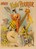 Fine Art - Work on Paper:Print, Artist Unknown (19th Century). Aperitif-Kina Perrier-Nimes,c. 1895. Lithograph in colors on paper. 49-1/2 x 36-3/4 inch...