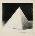 Fine Art - Work on Paper:Drawing, Sam Gummelt (American, b. 1944). A Pyramid, 1974. Pencil onpaper. 19-1/2 x 19 inches (49.5 x 48.3 cm). Signed, dated, a...