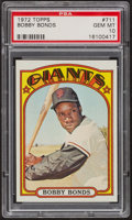 Baseball Cards:Singles (1970-Now), 1972 Topps Bobby Bonds #711 PSA Gem MT 10. ...