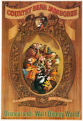 "Animation Art:Poster, ""Country Bear Jamboree"" Disney World/Disneyland Park AttractionPoster (Walt Disney, c. 1970s-80s). ..."
