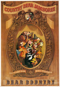 "Animation Art:Poster, ""Country Bear Jamboree"" Disney World Park Attraction Poster (WaltDisney, 1971). ..."