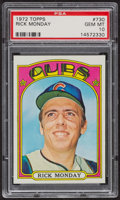 Baseball Cards:Singles (1970-Now), 1972 Topps Rick Monday #730 PSA Gem MT 10 - Pop Three. ...