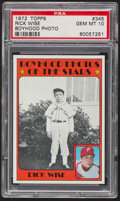 Baseball Cards:Singles (1970-Now), 1972 Topps Rick Wise Boyhood Photo #345 PSA Gem MT 10. ...