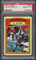 Baseball Cards:Singles (1970-Now), 1972 Topps Joe Pepitone In Action #304 PSA Gem MT 10 - Pop Five....