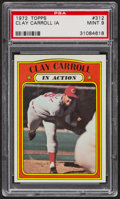 Baseball Cards:Singles (1970-Now), 1972 Topps Clay Carroll In Action #312 PSA Mint 9. ...
