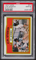 Baseball Cards:Singles (1970-Now), 1972 Topps Luis Aparicio In Action #314 PSA Gem MT 10 - Pop Seven....