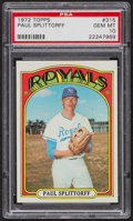 Baseball Cards:Singles (1970-Now), 1972 Topps Paul Splittorff #315 PSA Gem MT 10. ...