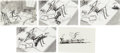"Animation Art:Production Drawing, Tim Burton's Nightmare Before Christmas ""Christmas Time""Storyboard/Concept Art Group of 5 (Touchstone, 1993). ... (Total: 5Items)"