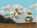 Animation Art:Production Cel, Adventures of Ichabod and Mr. Toad Cyril and Mr. Toad Production Cel Setup and Master Painted Background (Walt Disney,...
