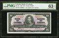 Canadian Currency, Canada BC-24c $10 1937.. ...