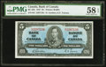 Canadian Currency, Canada BC-23b $5 1937.. ...