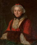 Fine Art - Painting, European:Antique  (Pre 1900), Circle of François Hubert Drouais (French, 1727-1775). Portraitof Marie Leczinska, Queen of France. Oil on canvas. 29 x...