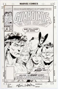 Original Comic Art:Covers, Kevin West and Steve Montano Guardians of the Galaxy #34Cover Original Art (Marvel, 1993)....