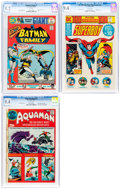 Bronze Age (1970-1979):Miscellaneous, DC Bronze Age Comics CGC-Graded Group of 3 (DC, 1971-75).... (Total: 3 Comic Books)