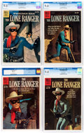 Silver Age (1956-1969):Western, Lone Ranger #131 and 133-135 CGC-Graded File Copies Group (Dell,1959-60) CGC VF/NM 9.0.... (Total: 4 Comic Books)
